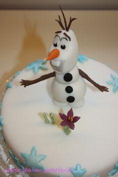 """Olaf, der entzückenden Schneemann im Disney Film """"Die Eiskönigin"""" Olaf, the adorable Snowman in Disney Film """"Frozen"""" by Lealu-Sweets"""