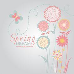 Butterfly spring vector illustration