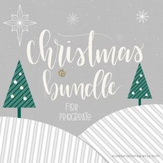 Christmas Bundle for Procreate iPad Pro Instant by Mymamacoffee Lettering Design, Hand Lettering, Ipad Pro Apps, Ipad Rules, Tinsel Garland, Ipad Art, Painted Signs, Alphabet Soup, Canvas Paintings