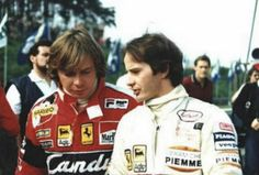 Gilles with Didier at Imola1982 before the race.