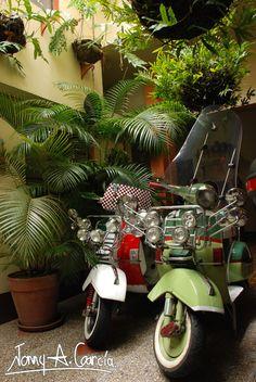 #Vespas En el restaurante-hotel en Cisneros Antioquia.