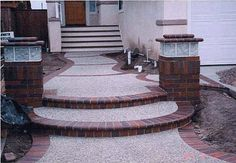 Round steps Concrete
