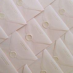 FOR THE STATIONARY || White wax seals on white envelopes || NOVELA BRIDE...where the modern romantics play & plan the most stylish weddings... www.novelabride.com #jointheclique @novelabride
