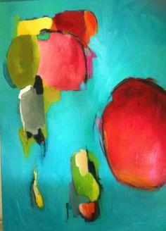 Sarina Diakos Paintings   Bombay Sapphire, original abstract painting