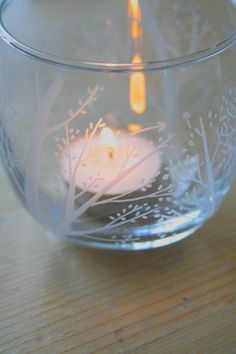 Spring Blossom Engraved Candle Holder by VictoriaLucyDesigns