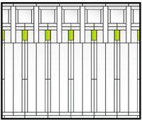 Frank Lloyd Wright colonnade window
