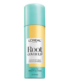 To conceal roots fast, use a spray formula like this one. The large nozzle provides wide coverage quickly and easily. All you need is one layer. Spritz it over new growth and partly down the length of hair to help blend evenly. Just be sure to let the formula dry several minutes before touching so it doesn't transfer. In six shades.