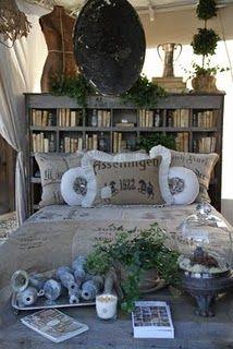 Bookshelf headboard.