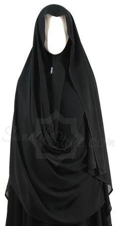 Hooded Wrap Hijab (Black)