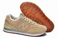Joes New Balance 574 Tri-Colors Cotton-Padded Wool Camel Brown Womens Shoes