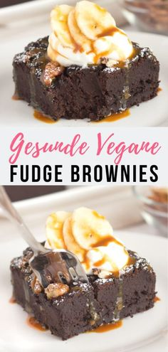 These are the best Vegan Black Bean Brownies ever - flourless, dairy free, naturally sweetened and so addictive that you'll feel tempted to eat them all. Fudge Brownies, Best Vegan Brownies, Sugar Free Brownies, Banana Brownies, Healthy Brownies, Healthy Cake, Chocolate Brownies, Sugar Free Desserts, Dessert Recipes