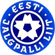 Estonia - ESTONIAN FOOTBALL ASSOCIATION Football Team Logos, Soccer Logo, National Football Teams, Sport Football, Fifa, Badges, Association Football, International Football, Soccer Kits