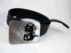 Deep Sea Diver Belt Buckle Stainless Steel by RhythmicMetal, $40.00