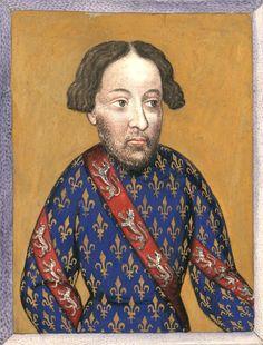 Jean Ier de Bourbon (†1293) (Gaignières 462) -- Dessin d'une miniature, Fonds Gaignières [BNF Est Réserve Oa-13-Fol., Fol. 34. Bouchot, 462] -- «Jean de Bourbon I. du nom, comte de La Marche, de Vendosme, et de Castres»