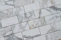 """3"""" x 6"""" Calacatta Gold Polished Marble Subway Tiles"""