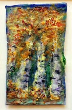 "Daily Paintworks - ""Aspen Glow"" - Original Fine Art for Sale - © Kristen Dukat"