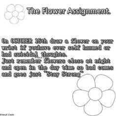 October 15th draw a flower...