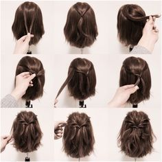 A cute and simple way to style your hair for work, school, nice night out. You could probably do it in less than 5 mins!
