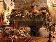 Christmas Deco Mesh Mantle