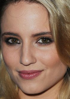 Close-up of Dianna Agron at the 2015 press night performance of 'McQueen'.