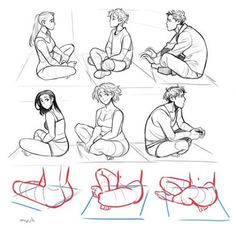 Drawing People Sitting Pose Reference 67 Trendy Ideas - Amina Drawing Drawing People Sitting Pose Re Drawing Techniques, Drawing Tutorials, Art Tutorials, Cartoon Drawings, Cool Drawings, Drawing Sketches, Manga Drawing, Sketching, Sitting Pose Reference