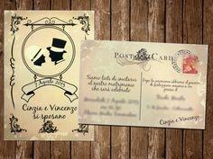 Partecipazione Vintage Cartolina