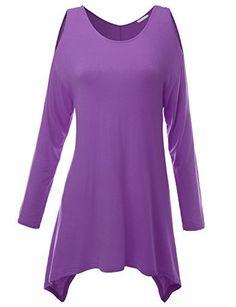 Doublju Womens Long Sleeve Cut-Out Shoulder Asymmetrical Tunic Top Doublju, http://www.amazon.com/dp/B00WTV6Q4C/ref=cm_sw_r_pi_dp_x_pZCmzbJSGH1Y0