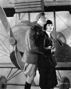 Clara Bow and Charles 'Buddy' Rogers in Wings (1927)