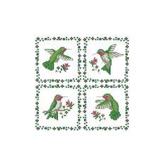 Hummingbird Cross Stitch Charts | HUMMINGBIRDS CROSS STITCH PATTERN -594