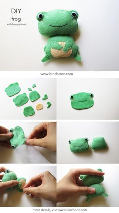 Let's make your frog felt plush at home with our free pattern!