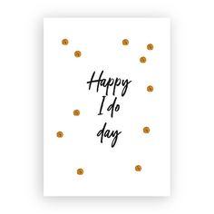 Postkaart 'Happy I do day'