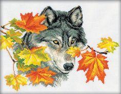 """Вышивка крестом волк"""""""