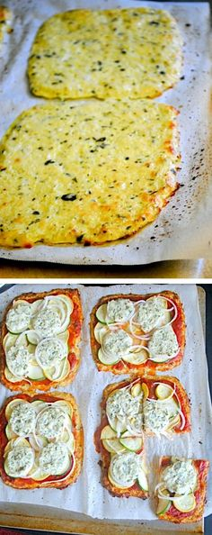 Basil-Garlic Cauliflower Pizza Crust