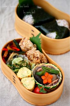 Bento box meal --- Slowly every day. Japanese Bento Lunch Box, Bento Box Lunch, Japanese Dishes, Japanese Food, Japanese Meals, Sac Lunch, Bento Recipes, Bento Ideas, Boite A Lunch