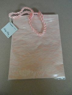 GIFT BAG. BABY BAG PINK.MEDIUM SIZE. CHESTERFIELD. NEW WITH TAGS