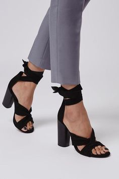 ROSA Suede Knot High Sandals