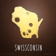 All 50 States Reimagined as Food Puns - some of these are really funny to me