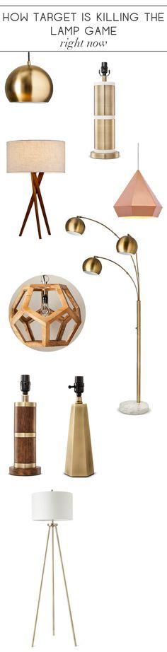 3 Globe Arc Floor Lamp Antique Brass Threshold Brown Floor Lamps Target And Interior Design