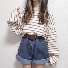 Korean Girl Fashion, Korean Fashion Trends, Ulzzang Fashion, Ulzzang Girl, Aesthetic Fashion, Aesthetic Clothes, Cute Casual Outfits, Pretty Outfits, Kawaii Clothes