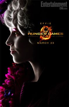 """Effie Trinket in a poster for """"The Hunger Games"""""""