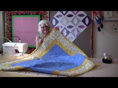 An Easy way to sew the binding on your quilt top - YouTube