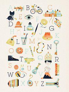 retro abc alphabet poster art print - L'Affiche Moderne Abc Poster, Poster Art, Kunst Poster, Poster Fonts, Alphabet A, Alphabet Posters, Typography Alphabet, French Alphabet, Alphabet Nursery