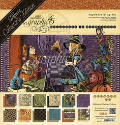New Michigan Vintage Scrapbook Customs Themed Paper and Stickers Scrapbook Kit