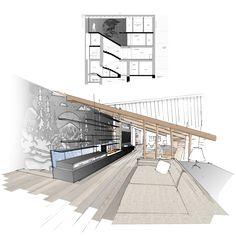 Architecture Esquisse Croquis Dessin sketch architecture intérieure design mobilier illustrations Croquis Architecture, Architecture Design, Floor Plans, Illustrations, Art, Sketching, Art Background, Architecture Layout, Illustration