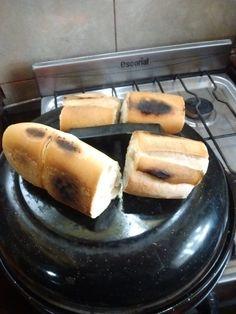Pan tostado en tapa de la parrigas