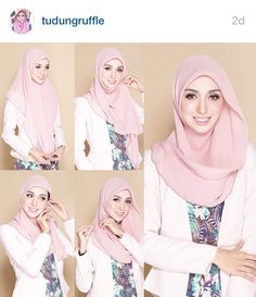 kumpulan gambar tutorial hijab segi empat sederhana terbaru simpel - my ely Tutorial Hijab Segitiga, Tutorial Hijab Wisuda, Square Hijab Tutorial, Simple Hijab Tutorial, Hijab Tutorial Segi Empat, Hijab Chic, Stylish Hijab, Casual Hijab Outfit, Hijab Dress