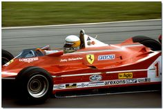 Jody Scheckter Ferrari 312T4 F1 1980 British GP Brands Hatch    by Antsphoto, via Flickr