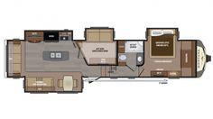 Montana 3950br Mid Bunk Floor Plan Office Amp Bunk 41