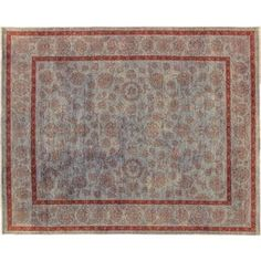 Oushak Kamilla Blue Hand-knotted Rug (8' x 10'1) - Free Shipping Today - Overstock.com - 17978859