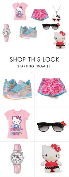 """""""my  little kitty"""" by muneca-moorehead on Polyvore featuring BOBS from Skechers, NIKE, ZeroUV, Hello Kitty and Jacmel"""